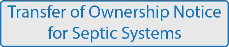 Septic System Owner Transfer